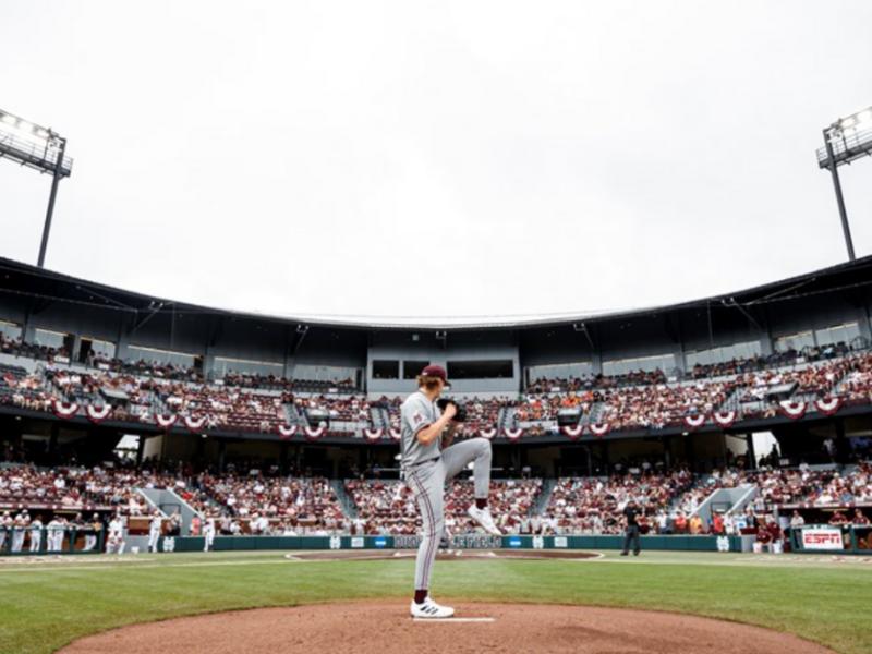 Mississippi State baseball. Photo: Austin Perryman/Mississippi State Athletics